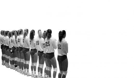Een meidensportteam uit het verleden.