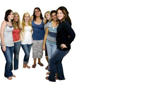 Een groepje meiden